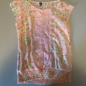 Peach Flower Top